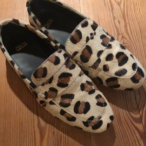 Faux Calf Hair Animal Print Loafers ASOS 7